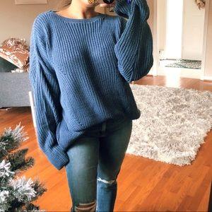 FROSTY Blue knit sweater